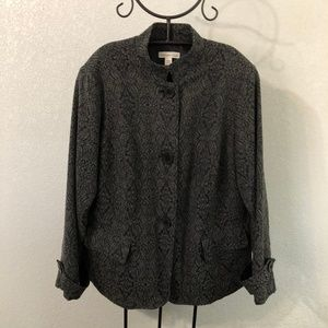 Black and silver print jacket - Coldwater Creek